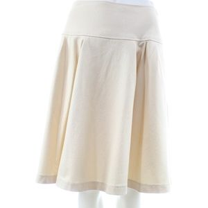 OSCAR DE LA RENTA IVORY COTTON BLEND SKIRT SIZE 4